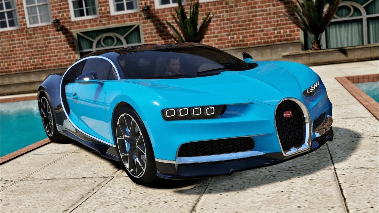 bugatti chiron su gta 5! - youtube