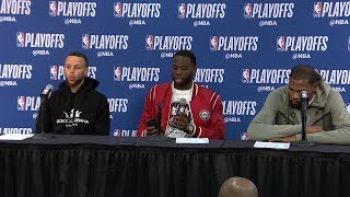 KD, Steph Curry & Draymond Postgame Interview - Game 3 | Warriors vs Pelicans | 2018 NBA Playoffs