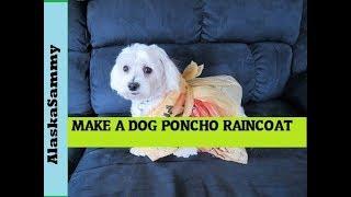 Make a Dog Poncho Raincoat from Plastic Bag