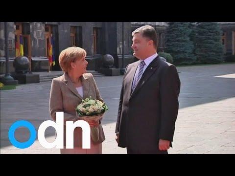 Ukraine Crisis: Crunch talks between Merkel and Poroshenko