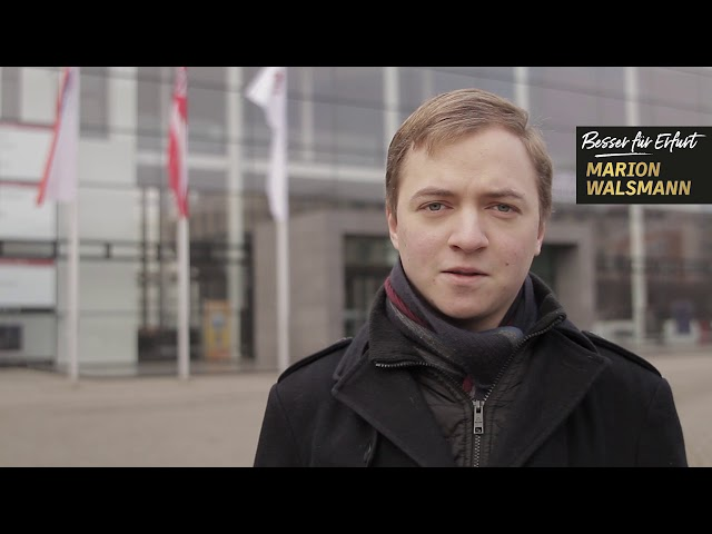 Aaron Mayr unterstützt Marion Walsmann als OB-Kandidatin für Erfurt