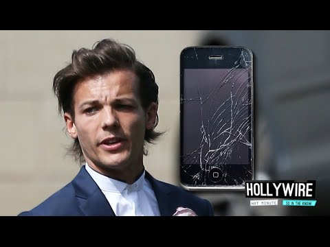 Louis Tomlinson Loses Temper & Smashes Phone During Interview?! | Hollywire