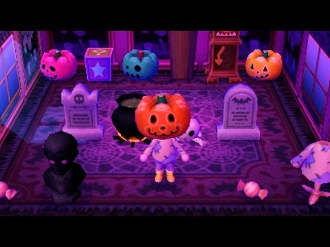 video journal animal crossing new leaf halloween in hocotate - Halloween Animal Crossing City Folk