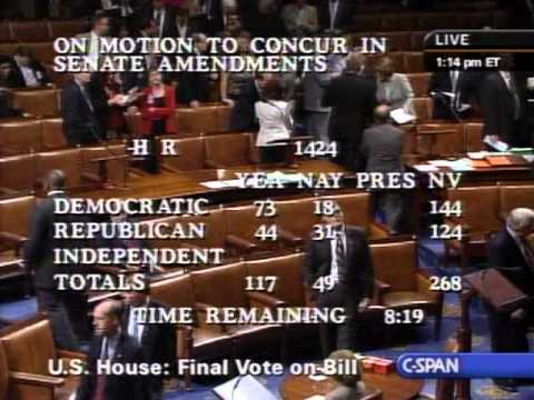 H.R. 1424 House Roll Call Vote on Emergency Economic Stabilization Act of 2008