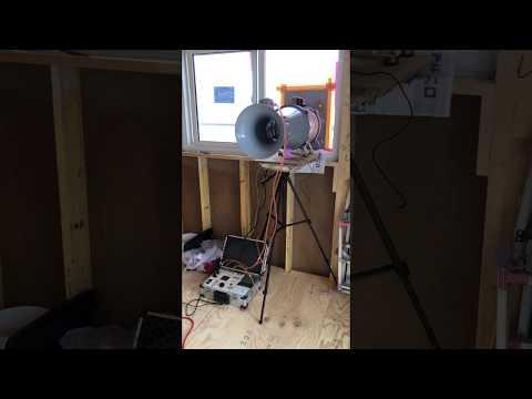 ボード気密工法の気密測定