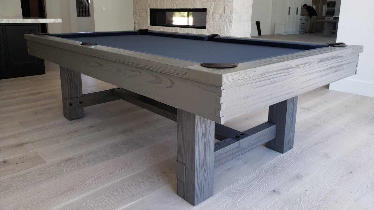 8ft Reno Grey Pool Table With Anium Felt