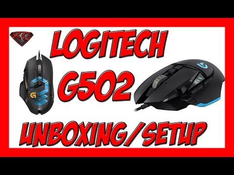 LOGITECH G502 GAMING MOUSE UNBOXING/SETUP 1080P HD