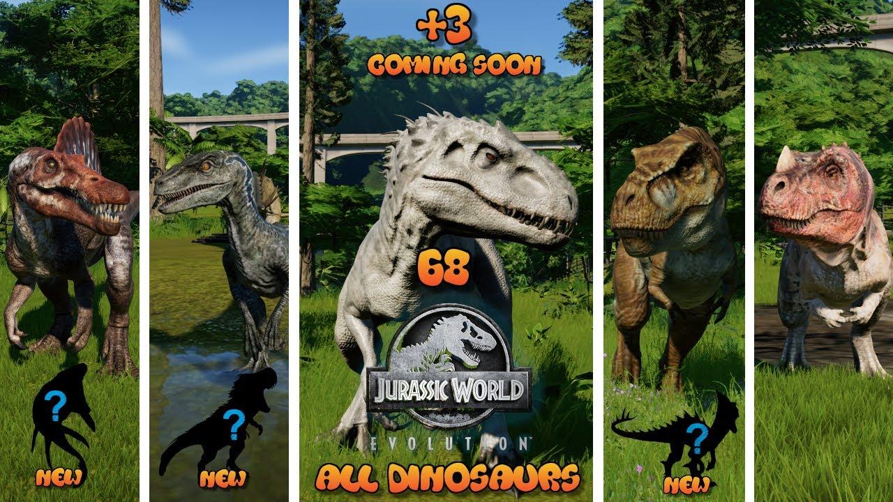 68 All Dinosaurs - Jurassic World Evolution