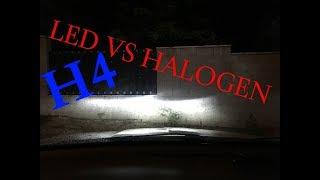 LED H4 VS HALOGENOVÁ ŽÁROVKA