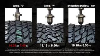 Тест на прочность Bridgestone Dueler A/T 697