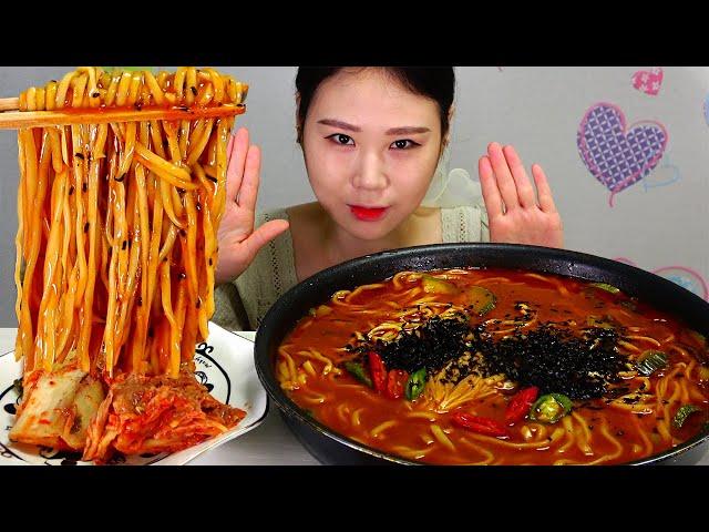 장칼국수 Korean style spicy knife noodles 먹방 MUKBANG