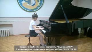 П И Чайковский Немецкая песенка исполняет Коптёл Даша ученица 1 класса 8 лет