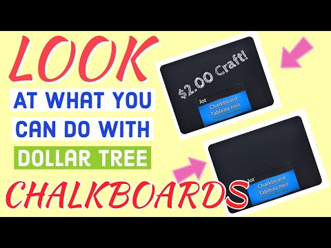 ‼️CHALKBOARDS..WOW‼️BEST DOLLAR TREE CRAFT/Check Out What You Can Do With DOLLAR TREE CHALKBOARDS