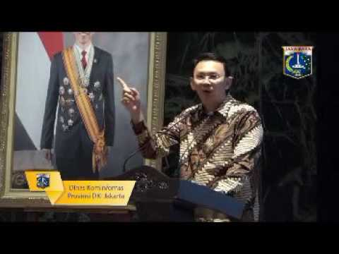 GUB AHOK BERPIDATO DIDEPAN RATUSAN PNS CAMAT DAN LURAH DKI JAKARTA