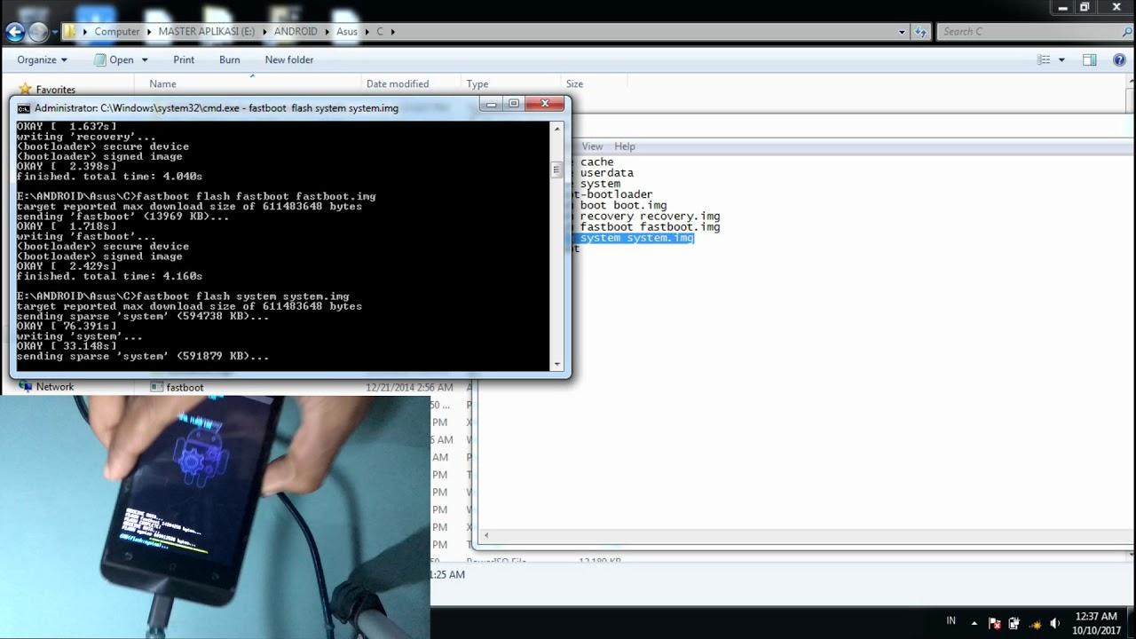 Cara Flash ASus Zenfone C Z007 Bootloop Softbrick Gagal Update