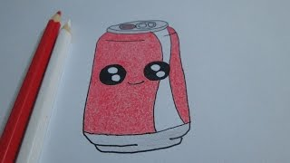 How to draw a soda Coca-Cola