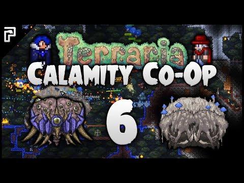 ⭐️ Python's Derps, Crabulon & Hive Mind! | Terraria Calamity Mod Co-Op Playthrough [#6]
