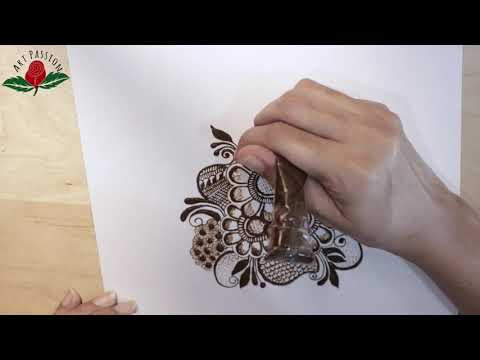 practice9: Practice and learn modern style flower cluster mehendi design   :Hindi