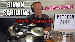 Drum Teacher Reaction: SIMON SCHILLING   Bloodhammer   DARK FUNERAL   (2021 Reaction)