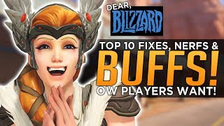 Dear Blizzard, 10 Things Overwatch Players Want!
