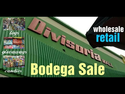 Bodega Sale Divisoria Mall wholesale retail toys and candies