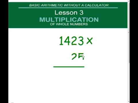 (5.NBT.B.5) Multiplication of Whole Numbers