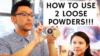 How to Use TWO Loose Powders for Acne Prone Oily Skin | Bridal Seminar Pt. 5 | mathias4makeup
