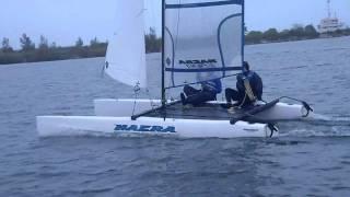 Nacra 500 catamaran - sailing upwind