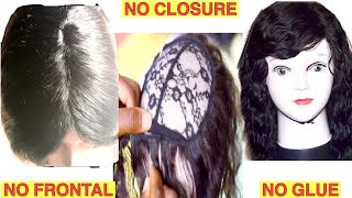 How To Make  A Neatly Closed Full Sew In  Wig Without Closure or Frontal