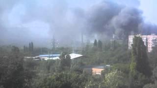 Краматорск под обстрелом 18.05.14 (попали в завод)