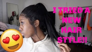 FIRST TIME DOING A HIGH PONYTAIL WITH A 360 LACE FRONTAL WIG | LAVY HAIR |