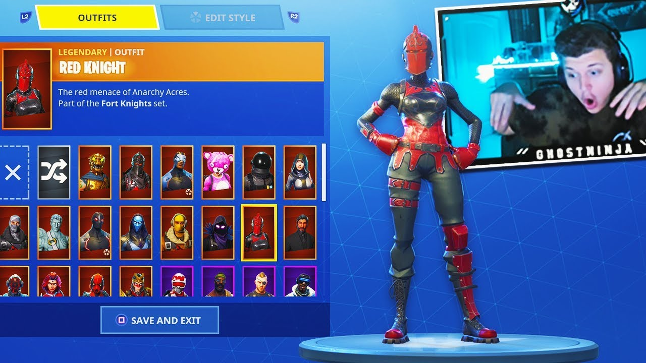 The New RED KNIGHT Skin Gameplay..! (Fortnite Battle ...