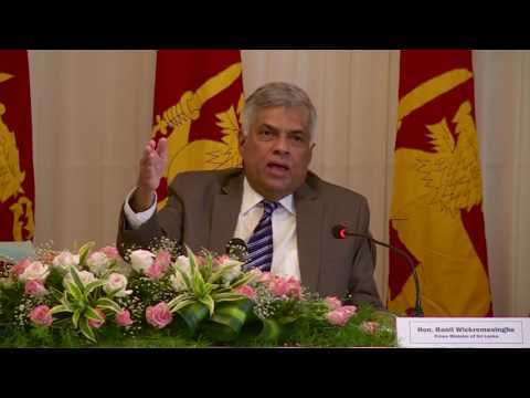 Sri Lankan Prime Minister Ranil Wickremesinghe's interaction