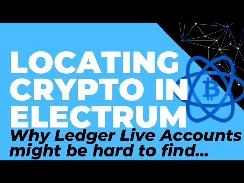 Locating Crypto In Electrum: Why Ledger Live (Or Trezor) Accounts Can Be Hard To Find. BTC, LTC, BCH
