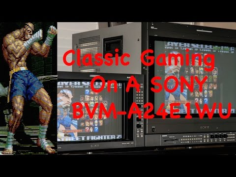 Classic Gaming on a Sony BVM D24E1WU