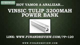 V deo-An lisis Vinsic Tulip 3200mAh Power Bank Espa ol