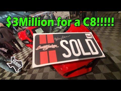 Corvette C8 Sells For $3 Million At Barrett Jackson 2020!!!!!