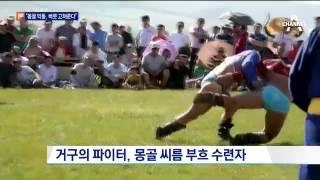 '천하 장사' 최홍만, 몽골 씨름 파이터와 한판