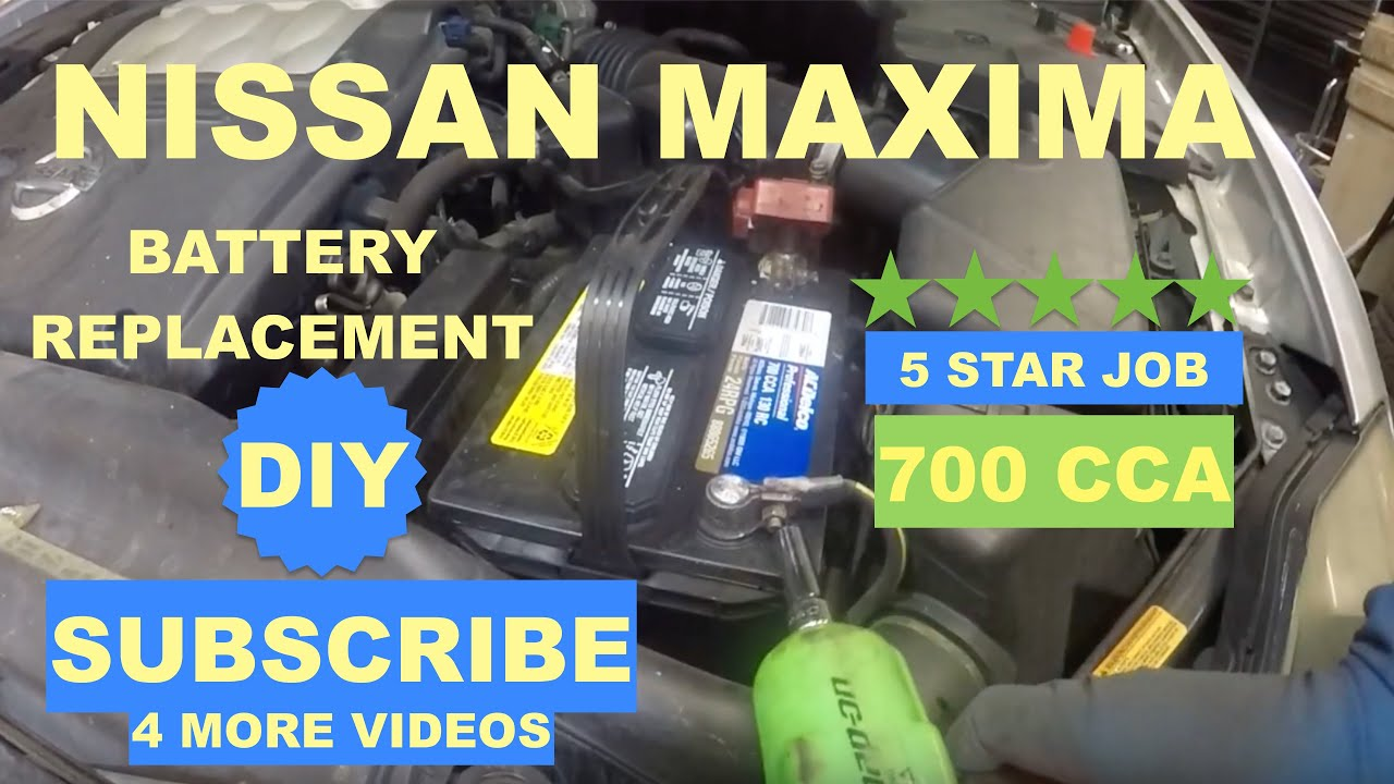 How To Replace Battery On Nissan Maxima 2004 2008 Youtube