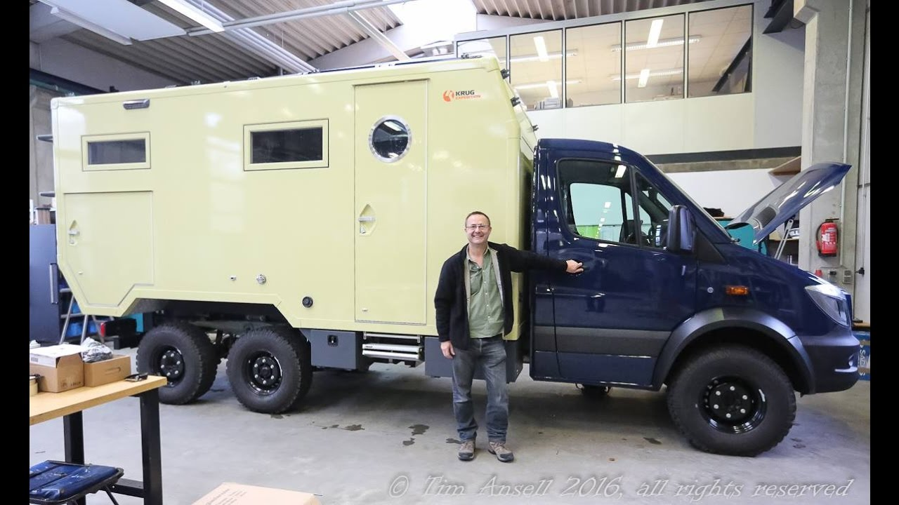 Mercedes Van Camper >> 6x6 Oberaigner Sprinter, Tim Ansell - YouTube