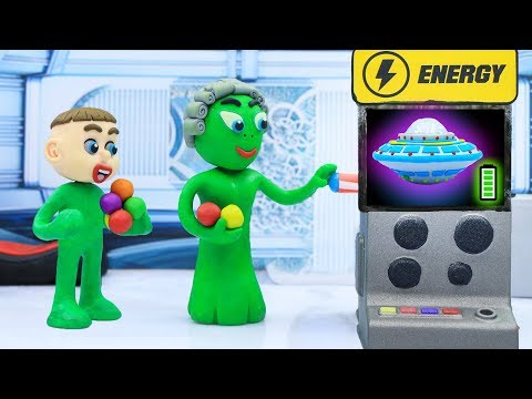 SUPERHERO BABY MEETS ALIEN 馃挅 Animation Cartoons Play Doh
