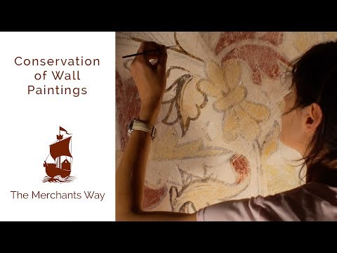 Conservation of Wall Paintings - The Merchants Way 015