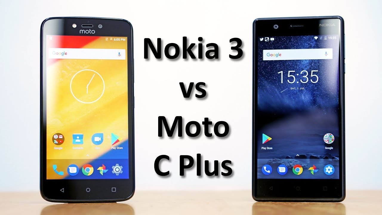 nokia 3 vs moto c plus speedtest comparison youtube. Black Bedroom Furniture Sets. Home Design Ideas