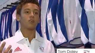 Team GB Kitting Out For Beijing 2008- Tom Daley