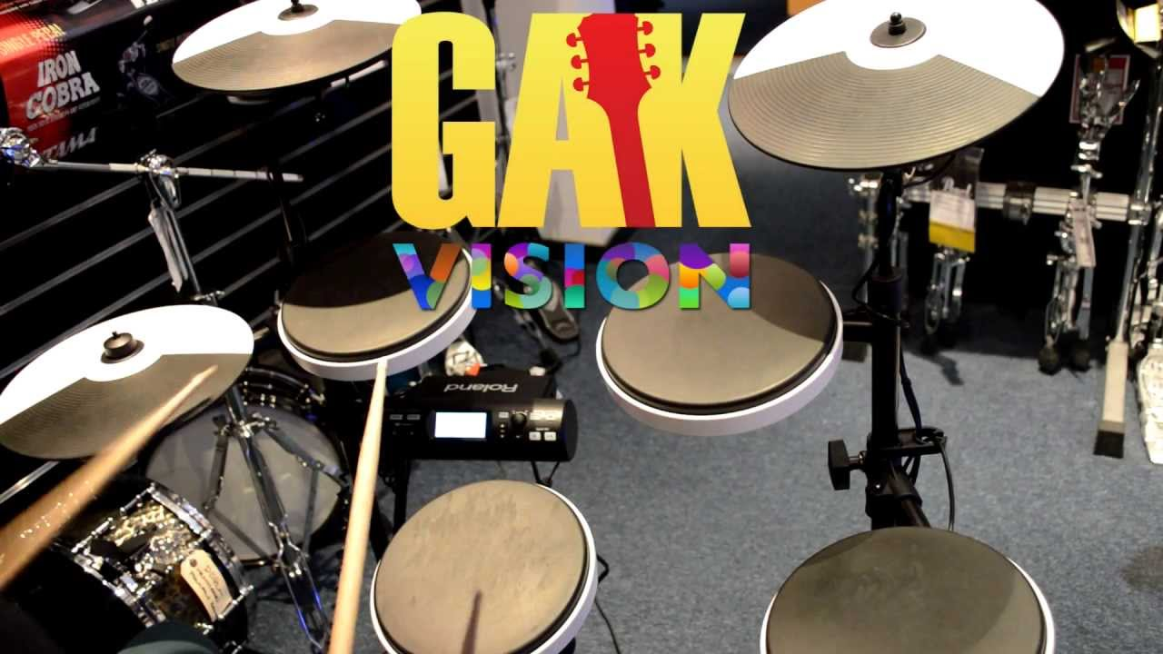 roland td 4kp portable v drums kit demo at gak youtube. Black Bedroom Furniture Sets. Home Design Ideas