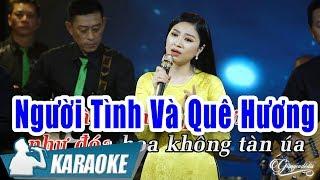Người Tình Và Quê Hương Karaoke Beat (Tone nữ) - Hoàng Kim Yến | Nhạc Vàng Bolero Karaoke