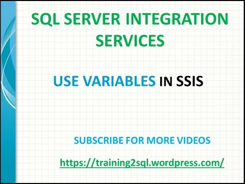 how to use variables in sql command ssis