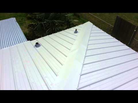 Metal roofing hip roof complete