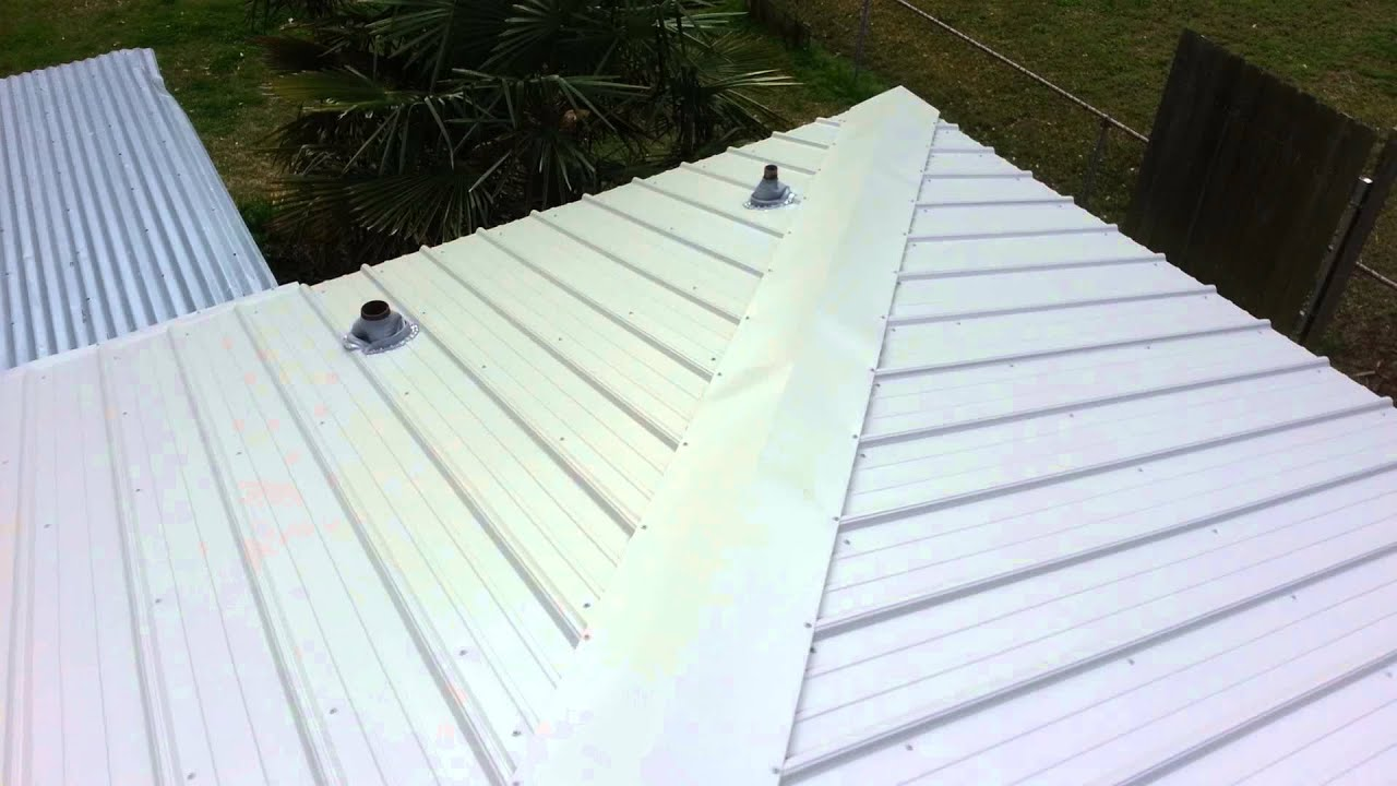 Metal Roofing Hip Roof Complete   YouTube