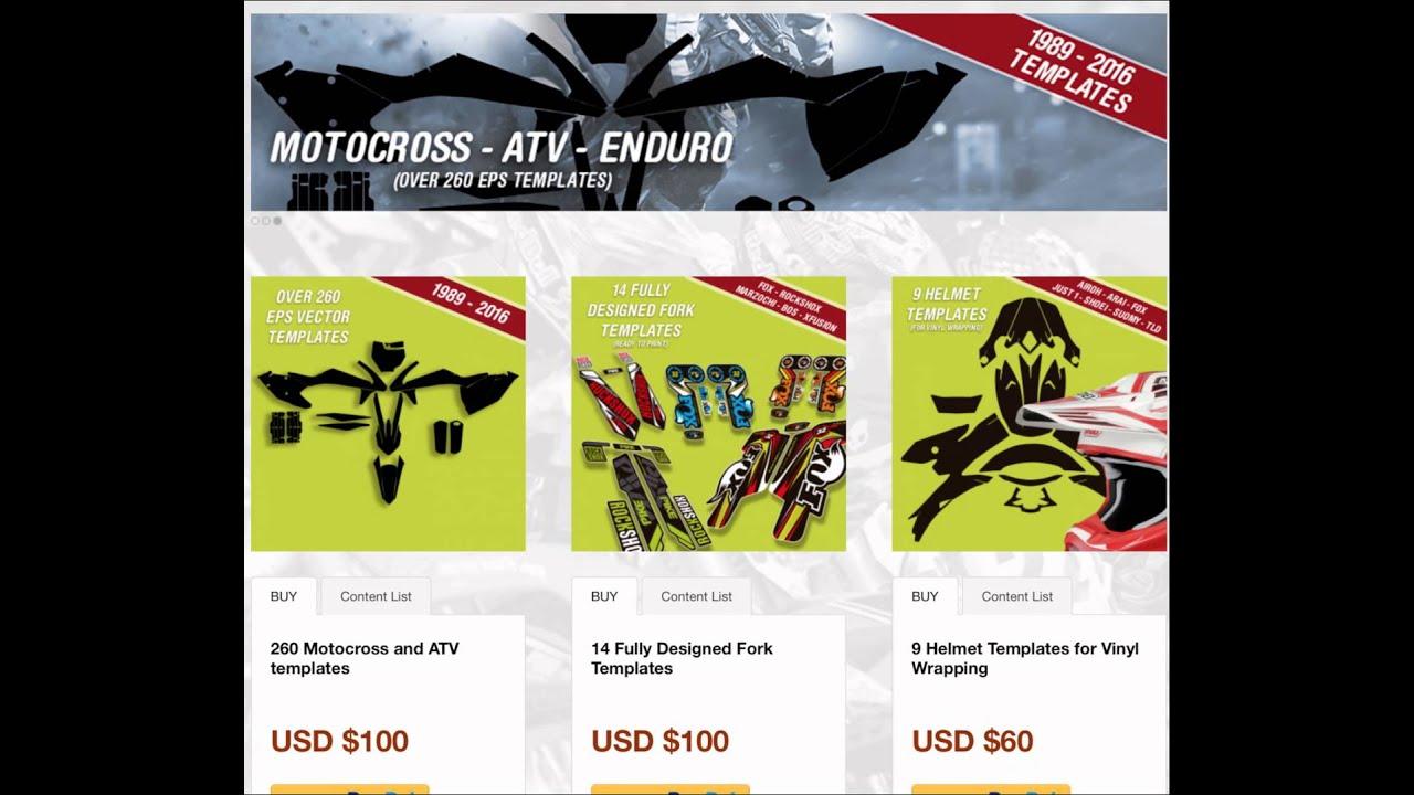 Anddesign Motocross Enduro Atv Vector Templates